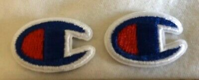 """New 2 Champion 3/4"""" Iron On Patch Red White Blue"""