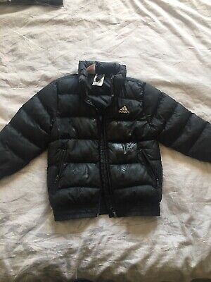 Kids Boys/girls Age 3-4 Years Adidas Black Puffa Jacket/coat