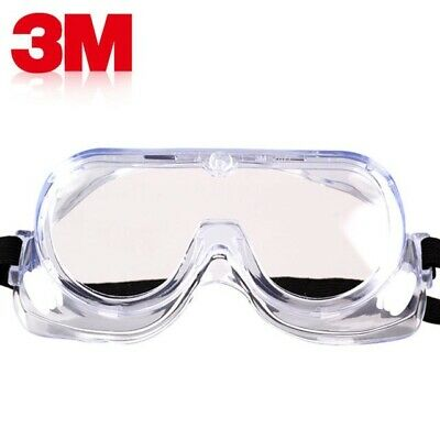 2 x 3M Chemical Anti Fog Clear Lens Safety Goggles Glasses Specs Lab Protection