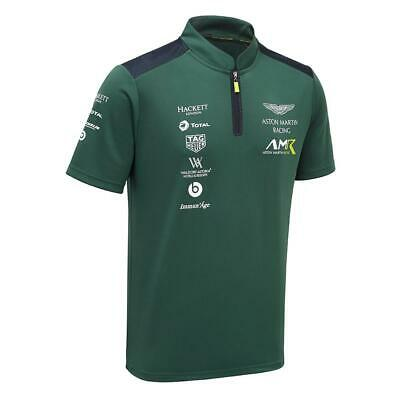 Aston Martin Racing Team Polo Shirt Sterling Gree Size Small