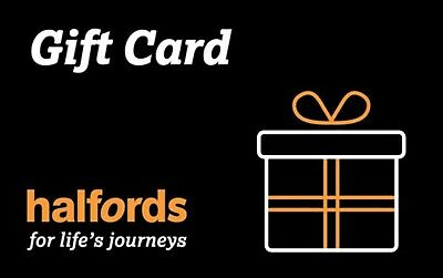 Halfords £60 e gift voucher