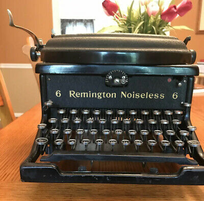 Rare Transistional 1927-28 Remington Rand Model 6 Noiseless Typewriter