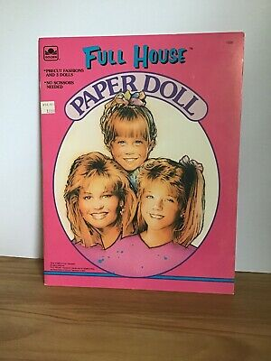 Vintage 1992 Full House Paper Doll Book Unpunched