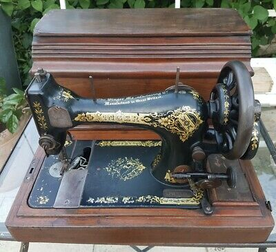 Antique Singer Sewing Machine #S1004359 Very Good Condition: Works Free & Smooth