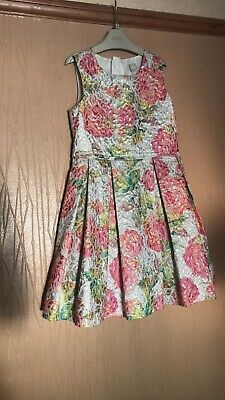 Girls Age 8 Years Tu Pretty Floral Print Lined Sparkle Shiney Sleeveless Dress