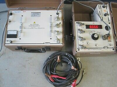 Biddle AVO Megger DLRO Low Resistance Ohmmeter 247000 100A Power Supply 247120