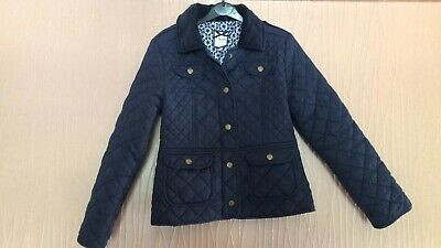 Girls Age 9-10 Years Jasper Conran Navy Blue Quilted Effect Coat Jacket