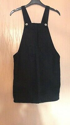 Girls Age 9 Years New Look 915 Generation Black Denim Pinafore Style Dress