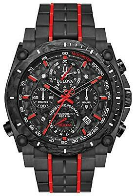 Bulova 98B313 Precisionist Men's Watch Black 46.5mm Black IP Stainless Steel and