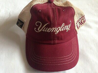 New Yuengling Beer Patch Red Tan Mesh Trucker Hat Adjustable OS Embroidered Cap