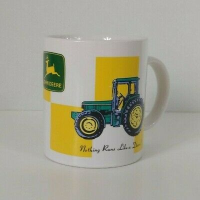 "John Deere Gibson Coffee Mug Cup ""Nothing Runs Like A Deere"" Licensed"
