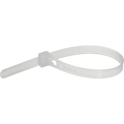 """Pearstone 12"""""""" Reusable Plastic Cable Ties - Clear (100-Pack)"""