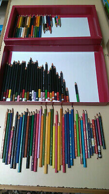 94 colour pencils Staedtler Noris Rexel Cumberland Derwent StudioPolly Worth$100