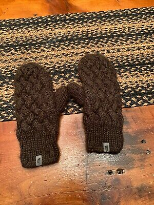 Womens North Face Mittens Size Small Brown