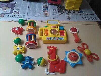 8 baby rattles toys excellent condition fun fun fun for little baby