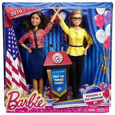 Barbie President & Vice President Dolls set New 2016 first all female ticket