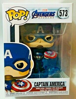 FUNKO Pop Marvel AVENGERS ENDGAME CAPTAIN AMERICA w/ MJOLNIR 4in Vinyl IN STOCK