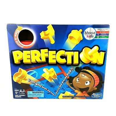 Perfection Board Game Timed Matching Shapes Hasbro Mensa For Kids 2016 Age 5+