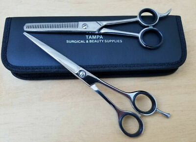 "6"" Professional Hair Cutting Japanese Scissors Thinning Barber Shears Set Kit"
