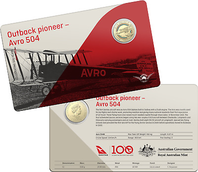 2020 RAM $1 One Dollar Qantas Outback pioneer - Carded Coin D5-2057