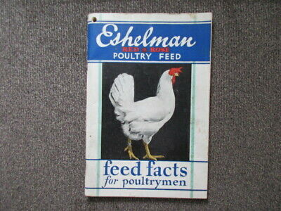 Vintage Eshelman Red Rose Poultry Feed Soft Cover Book 95 Pages