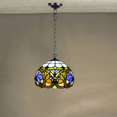 Antique Tiffany Style Pendant Lamp Handcrafted Light Lamps Stained Glass GIFT