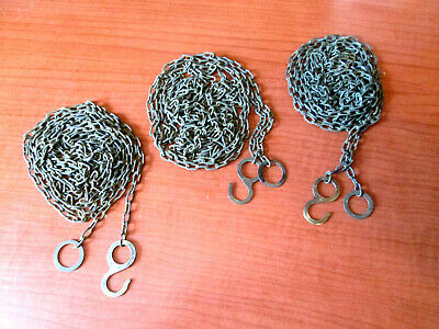 """Lot of 3 Vintage Cuckoo Clock Weight Chains  72""""   61 LPF.   (200A15)"""