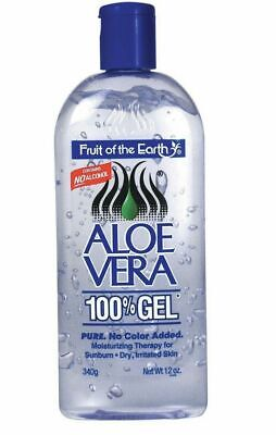 1 Bottle Fruit Of The Earth Aloe Vera 100% Gel 12 oz FREE FAST SHIPPING
