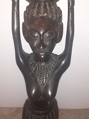 Antique African Statue - Solid  Wood Sculpture