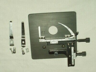 American Optical, A/O, Microscope Stage & Precision  Custom Mounted  X-Y Clips