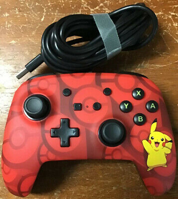 Nintendo Switch PowerA Pokemon Enhanced Wired Controller Pikachu 1513777-01 New