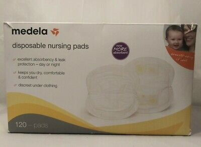MEDELA Disposable NURSING Pads, 67 COUNT *DISTRESSED PACKAGING* Open Box White