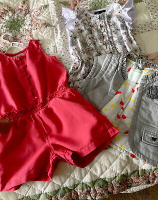 Girls Jumpsuit/ Cullote Bundle M&S  Vertbaudet Age 4yrs with Body Warmer VGC