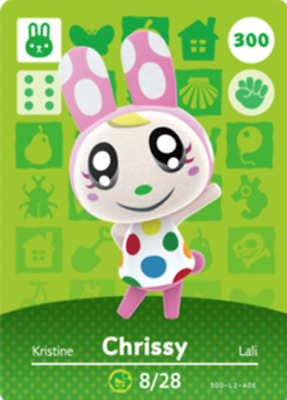 Animal Crossing: New Horizons Amiibo Chrissy #300 (Series 4) NFC Tag