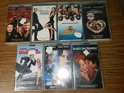 **GOOD TITLES** SONY PSP Lot of 7 UMD Movies BRAND NEW