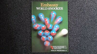 1986 World Snooker Championship Official Programme @ Crucible Theatre, Sheffield