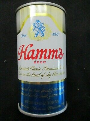 Hamm's BEER CAN BANK 12 oz. Straight Sided Soldered Tin circa 1970 St. Paul, MN
