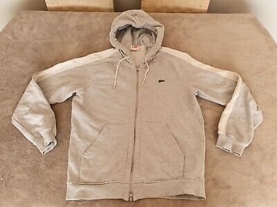 Womens / Girls Grey Lacoste Full Zip Hoodie - Size 4 Small