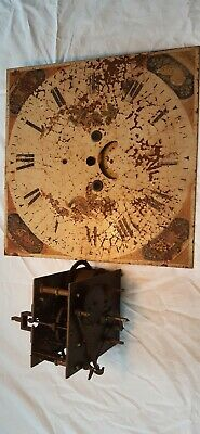Antique Longcase Grandfather Finnemore Clock face And Movement