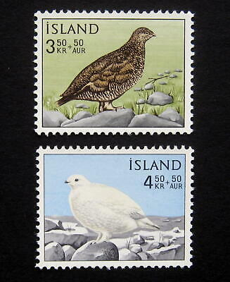 ICELAND 1965 Birds. Complete set of 2 stamps. Mint NH