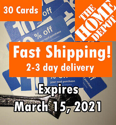 (30) THIRTY Lowes 10% off for Home Depot only Expires March 15 2021