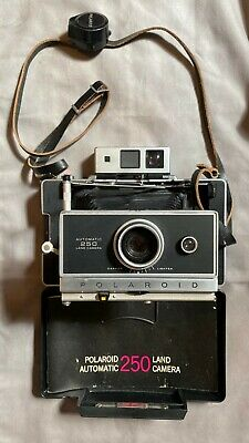 Vintage Polaroid Automatic 250 Land Camera Untested Clean w/ 128 Timer and Strap