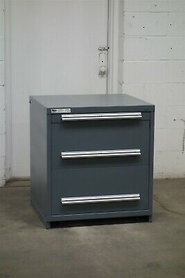 Used Stanley Vidmar 3 drawer cabinet 33 high industrial tool storage #2155