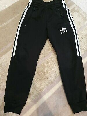 Boys Adidas Cuffed Tracksuit Bottoms Age 7-8 Years Vgc!