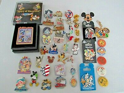 Lot Of 43 Collectible Disney Pins Mickey Mouse Jumbo Disney World No Duplicates