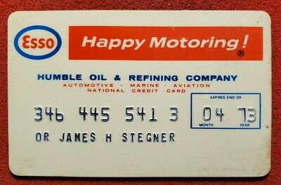 1973 Esso Humble Oil credit card ♡Free Shipping♡ cc473