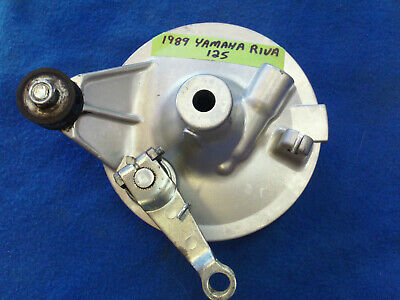 1989 Yamaha Riva 125 Front Brake Assembly with shoes