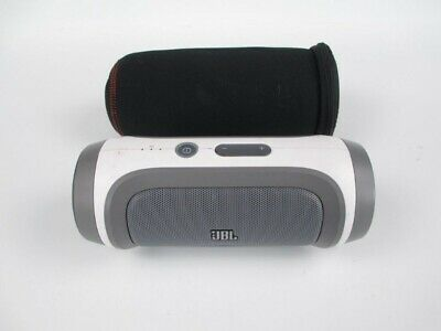 JBL Charge White Wireless Bluetooth Speaker - With Case