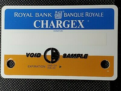 The Royal Bank Of Canada Chargex Sample Charge Card ♡free ship♡cc1478