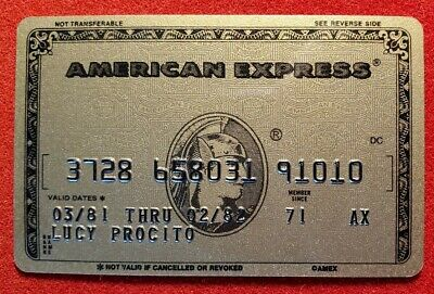 American Express Gold Credit Card exp 1982 ♡Free Shipping♡cc411